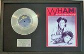 Wham! (George Michael) - Platinum Disc & Song Sheet - Wake Me Before You Go-Go